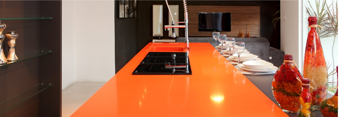 Coloured kitchens