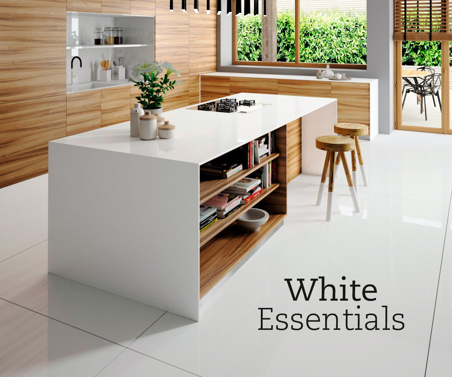 white essentials silestone