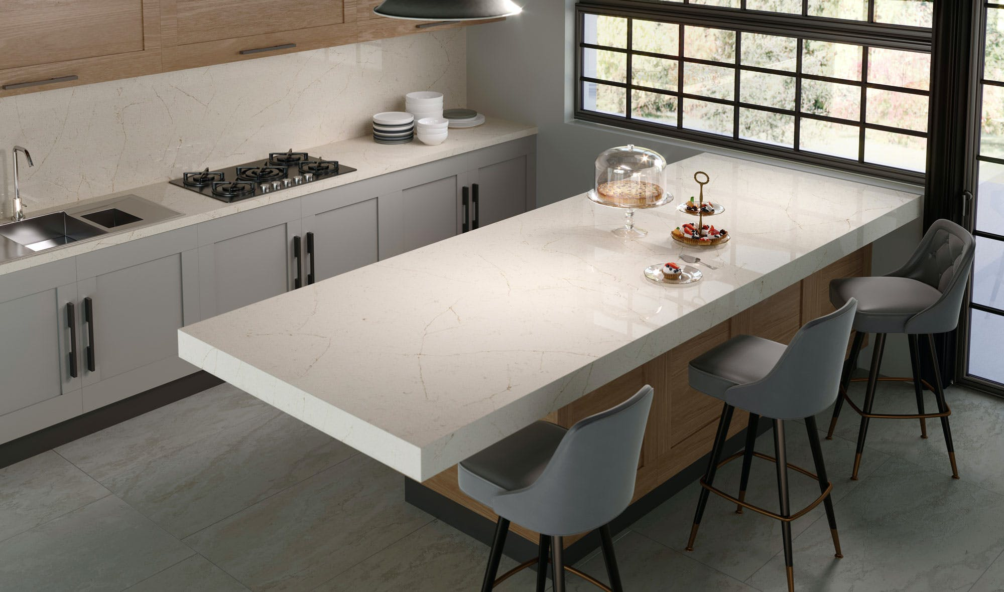 Silestone-Kitchen-Eternal-Marfil